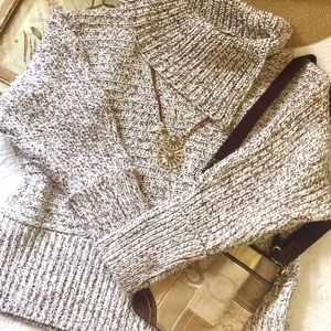 Topshop Envelope Neck chunky knit sweater